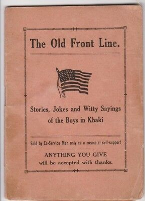 The Old Front Line stories jokes witty sayings of the boys in khaki