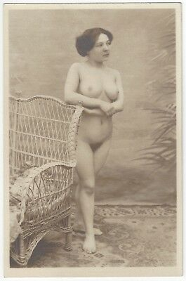 1920 French NUDE Photograph - Full Frontal and Curvy