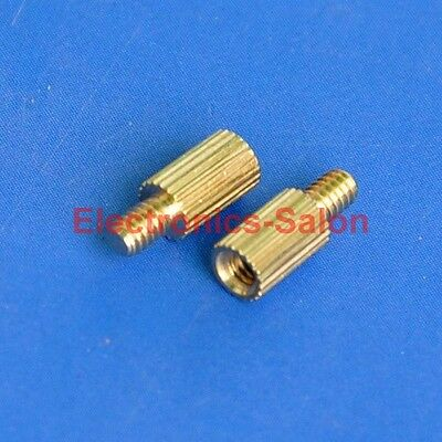 20pcs 5mm Threaded M2 Brass Male-Female Standoff, Spacer.