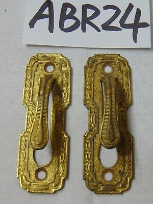 Vintage Antique Curtain Tie Back Ornate Brass Hooks Architectural Set 2 Items