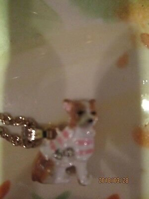 Chihuahua Wearing Pink Scark  Necklace  And Charm