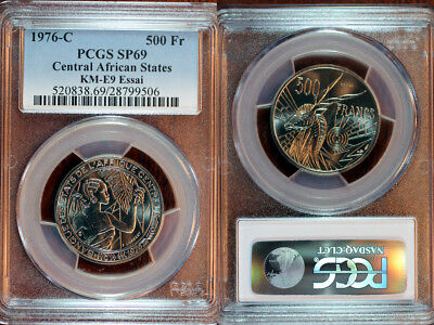 1976-C Central African States Pattern 500 Francs PCGS SP69
