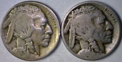 1916d & 1916s Buffalo Nickels Nice Dated Estate Find LOT of 2 Coins   NO RESERVE