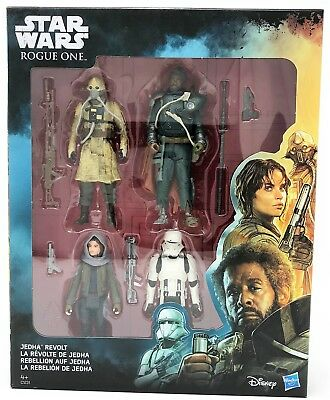 "Hasbro C1231 Disney Star Wars Rogue One JEDHA REVOLT 3.75"" Figure 4-Pack"
