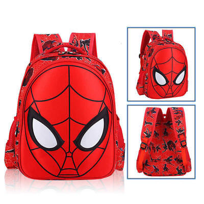 US Stock 3D Spiderman School Bag Backpack Three Size For Boys Kids Children Gift