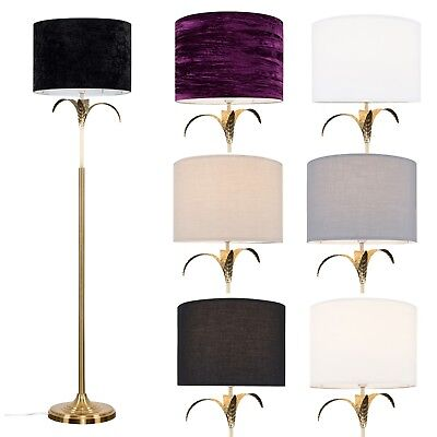 Gold Palm Tree Standard Floor Lamp Lounge Light Home Led