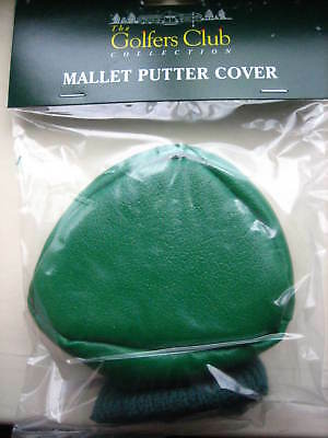 10 x Mallet Golf Putter Head Covers Green With Sock New Wholesale Society Gift