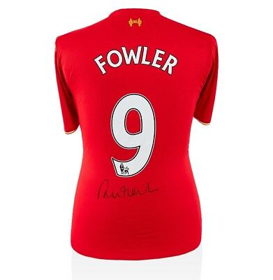Robbie Fowler Signed Liverpool Shirt 2015-2016 - Number 9 Autograph Jersey