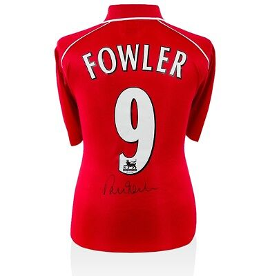 Robbie Fowler Signed Liverpool Shirt 2000-2001 - Number 9 Autograph Jersey