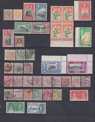 Ceylon 1870's/1946 Collection MNH,Mint Mounted and Used.