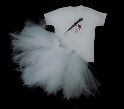 Chucky Bride Tutu Top Adult Child Fancy Dress Play Halloween Costume Fright 80'S