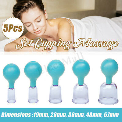 5pcs/set Cupping Massage Vacuum Body Facial Suction Cups Anti-cellulite Beauty
