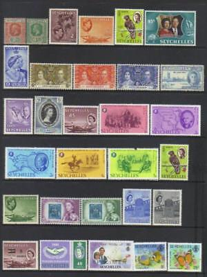 Seychelles 1917-1981 Mh Selection Cat £32+