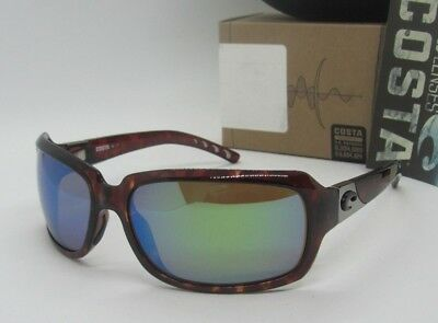 d3c1a46f075 COSTA DEL MAR tortoise green mirror ISABELA POLARIZED 400G sunglasses NEW  IN BOX