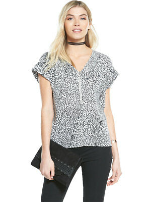 V by Very Zip Front Boxy Top