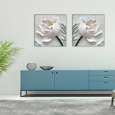 2x Modern White Rose Canvas Painting Posters Prints Nordic Wall Art Pictures