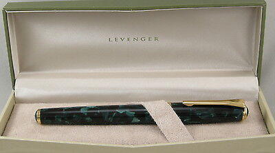 Levenger True Writer Teal Appeal & Gold Rollerball Pen - New In Box