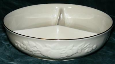 Lenox Dimensions Fruit Of Life Ivory Gold 3 Part Relish / Nut Dish Usa Free Shi