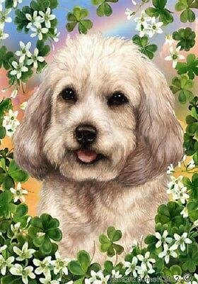 Large Indoor/Outdoor Clover Flag - White Cockapoo 31264