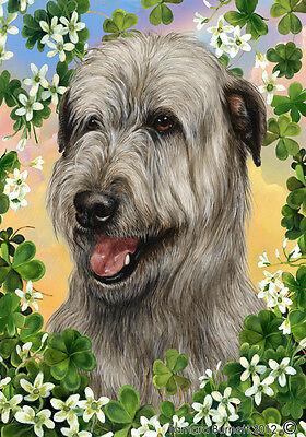 Large Indoor/Outdoor Clover Flag - Grey Irish Wolfhound 31329
