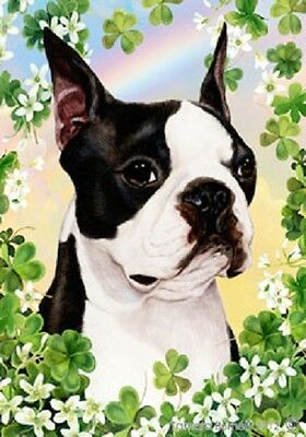 Large Indoor/Outdoor Clover Flag - Boston Terrier 31032