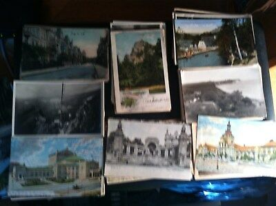 Lot Of 100 Vintage Germany Standard Size  Postcards #2 Free Shipping $12.49