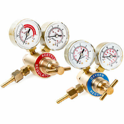 Solid Brass Replacement Oxygen & Acetylene Regulator Gauge for Victor Style Kit