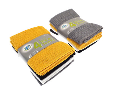 4 Pack Micro Brite Microfibre High Absorbent Hand Dish Drying Kitchen Tea Towels