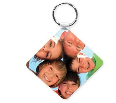 Personalised Photo Keyring Double Sided Custom Gifts Promotional Business