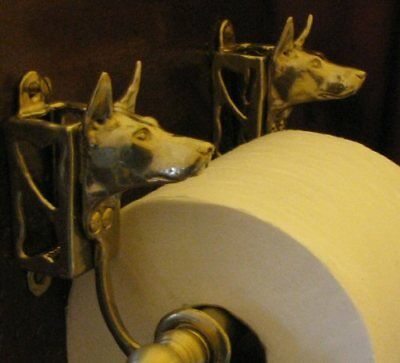 DOBERMAN PINSCHER, CROPPED, Toilet Paper Holder OR Paper Towel Holder!