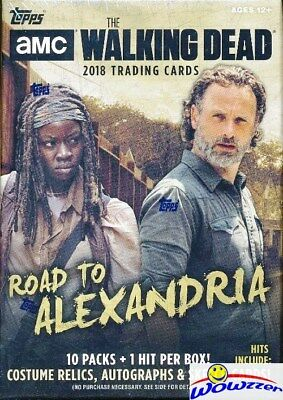 2018 Topps AMC The Walking Dead: Road to Alexandria HUGE Blaster Box-HIT