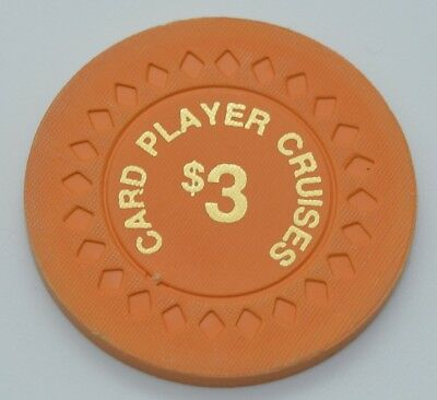 Card Player Cruises Ships $3 Casino Chip Diamond Mold