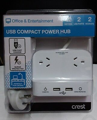 NEW Crest PWA04977 USB Compact Power Hub