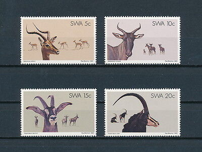 South West Africa 443-6 MNH, Antelope, 1980