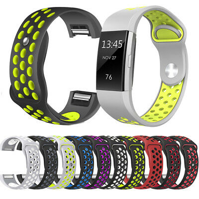 1x Replacement Silicone Rubber Band Strap Wristband Bracelet For Fitbit CHARGE 2
