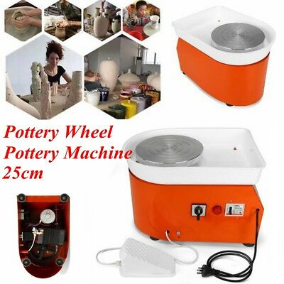 250W Electric Pottery Wheel Ceramic Machine Foot Flexible Pedal Work Clay Art