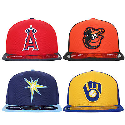 New Era 59Fifty Orioles LA Angels Rays Brewers MLB Fitted Baseball Cap