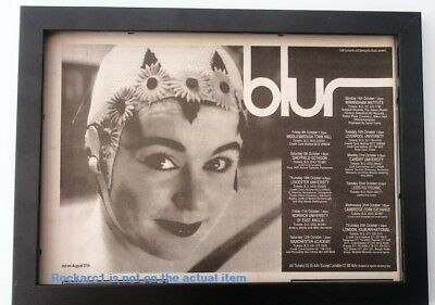 BLUR 1991 Leisure Tour*ORIGINAL*ADVERT*FRAMED*FAST WORLD SHIP