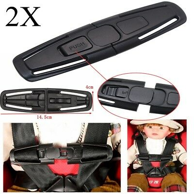 2x Car Baby Safety Seat Strap Belt Harness Chest Child Safe Lock Clip Buckle