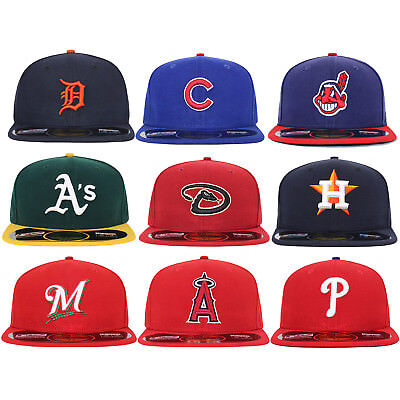 New Era 59Fifty Tigers Cubs Indians Athletics Diamondbacks Fitted Baseball Cap