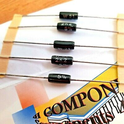 W21 WELWYN WIRE WOUND RESISTORS 3 WATT See listing for Ohmic Values
