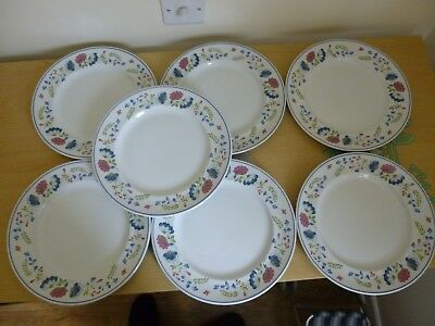 7 BHS Priory Dinner Plates - Discontinued China - British Home Stores