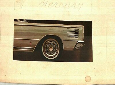 1965 Mercury Factory Issued Prestige Color Sales Catalog