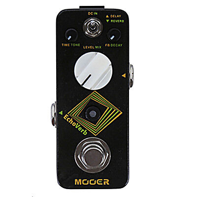 Mooer EchoVerb Digital Delay and Reverb Micro Guitar Effects Pedal