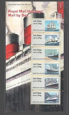 Gb 2018 Post And Go Royal Mail Heritage - Mail By Sea Stamp Set (P & G 29)