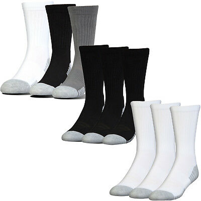 Under Armour Golf 2018 HeatGear Tech Crew Socks - 3 Pack