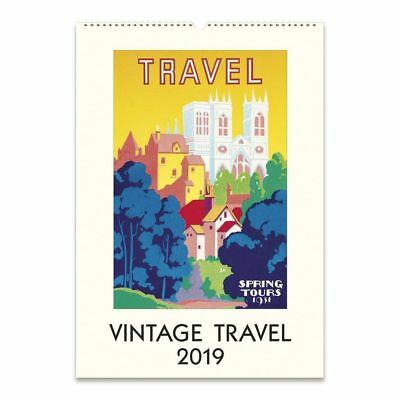 Vintage Travel Art Poster Wall Calendar, Travel Posters by Cavallini Papers &
