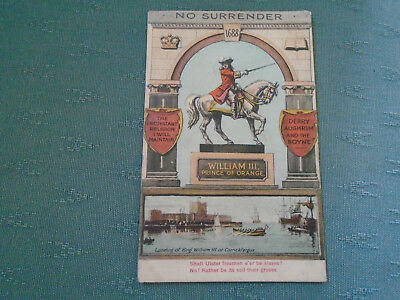 Old William Of Orange - No Surrender - Ulster Freemen Ireland Postcard