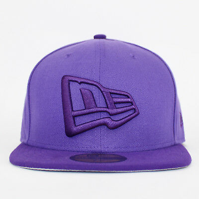 New Era 59FIFTY Purple NE Flag Fitted Baseball Cap