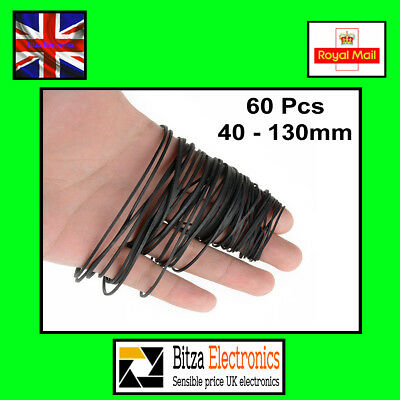 60x Cassette Repair Belts 40-130mm Mixed Kit Tape stereo UK Seller